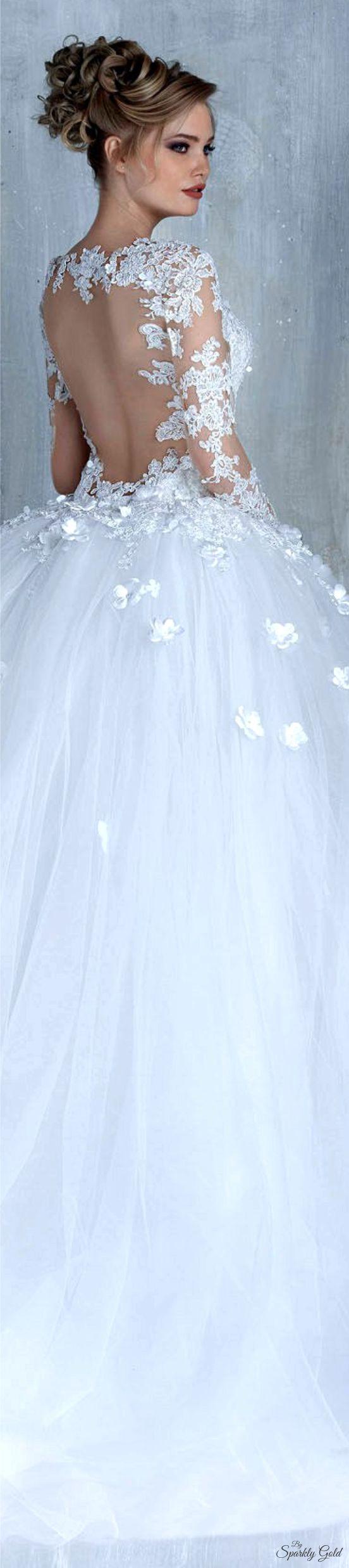 Winter wonderland wedding dress  Tony Chaaya Spring  Bridal  Unique Wedding Dresses  Pinterest