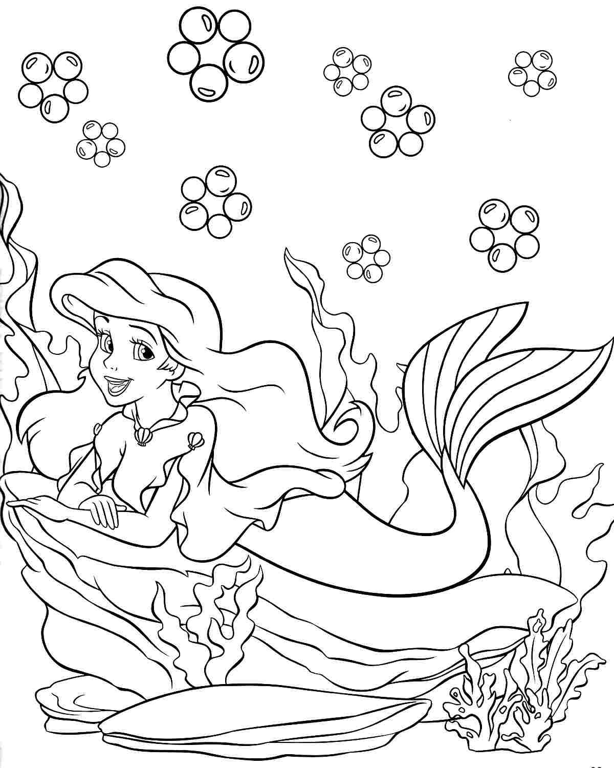 Pin by Yooper Girl on Color - Sea/Mermaid | Disney ... | free printable disney princess christmas coloring pages