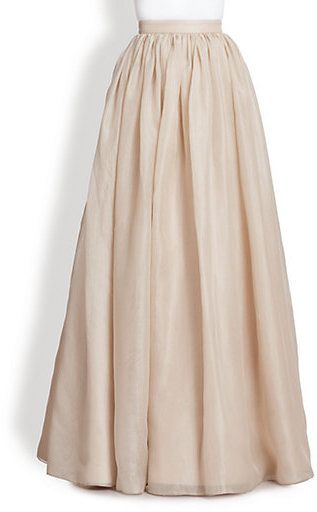 Alice + Olivia Abella Silk Chiffon Ball Gown Skirt