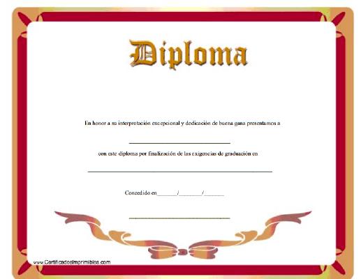 Diplomas para imprimir en formato word - Imagui