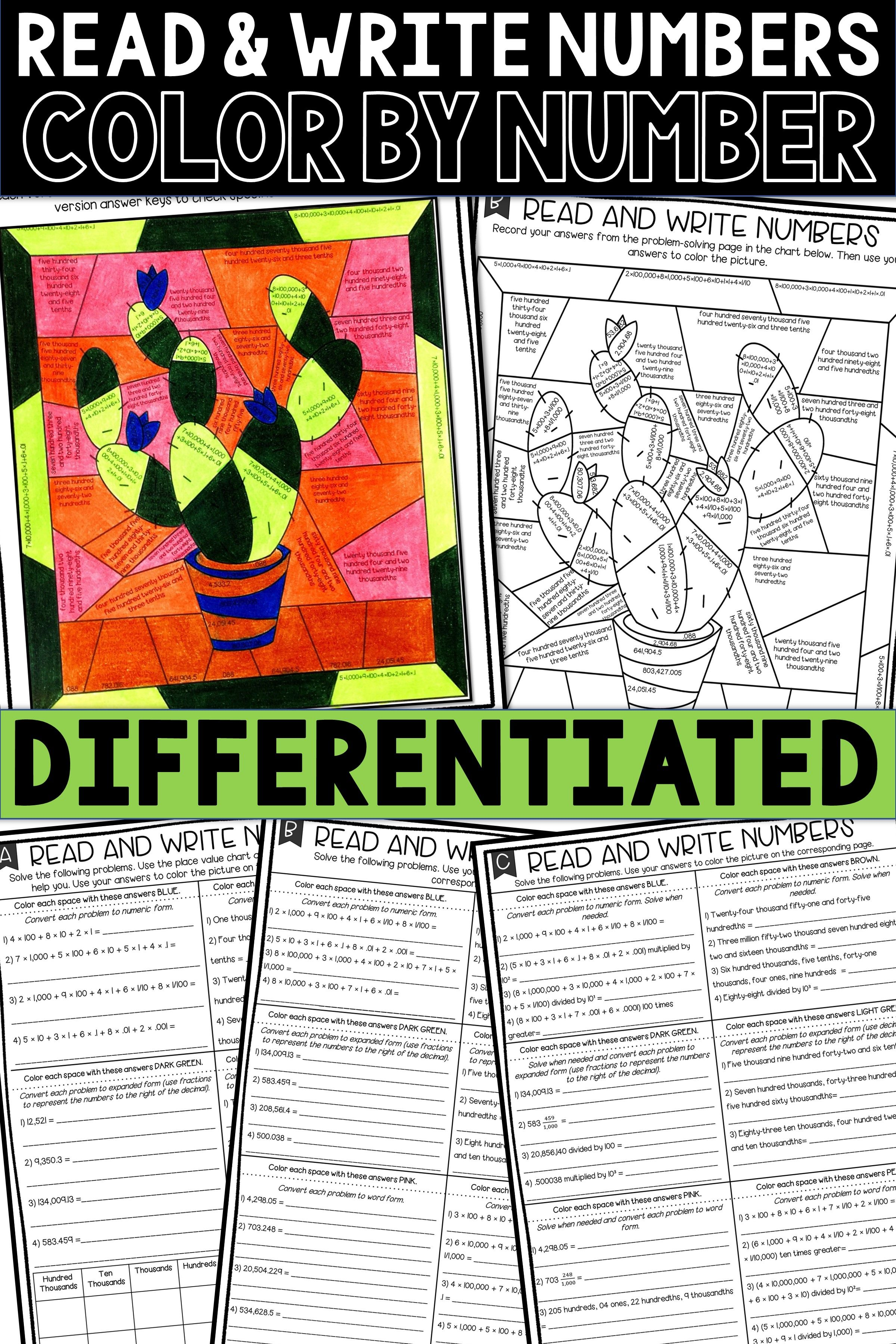 This Differentiated 5th Grade Place Value Activity Is