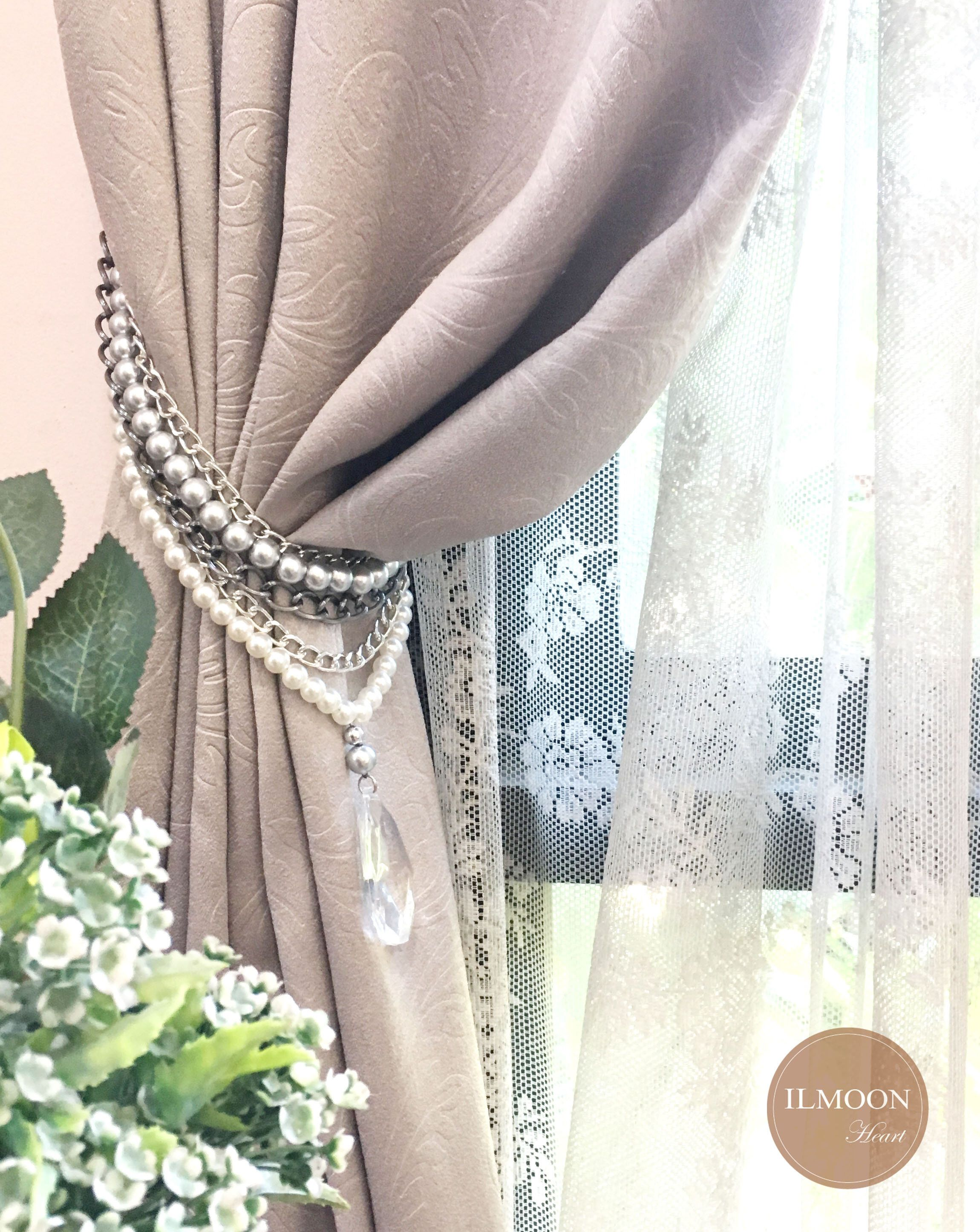 Grey Curtain Tie Backs Curtain Tiebacks Grey And White Decor