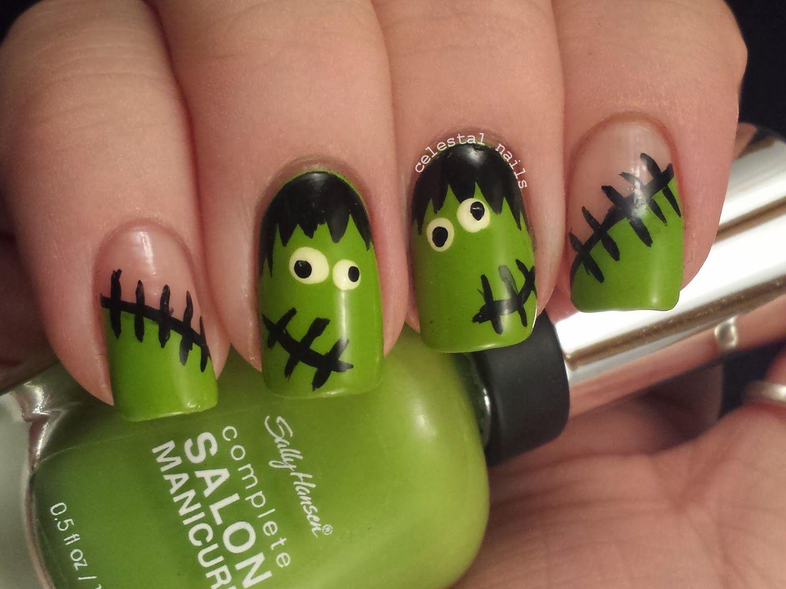 13 Boo-tiful Halloween Nail Art Designs | Frankenstein and Haircuts