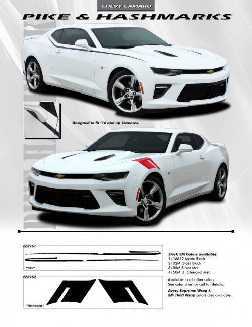 Camaro pike and hashmarks stripe kits vinyl are  great way to really change the entire look of your also rh pinterest