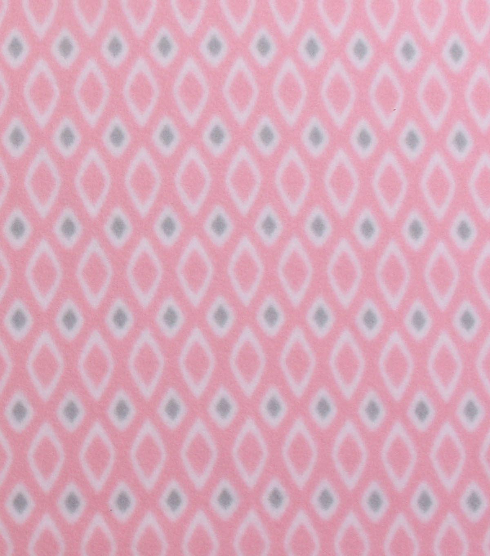 Blizzard fleece fabric diamond on light pink unit iii hat project