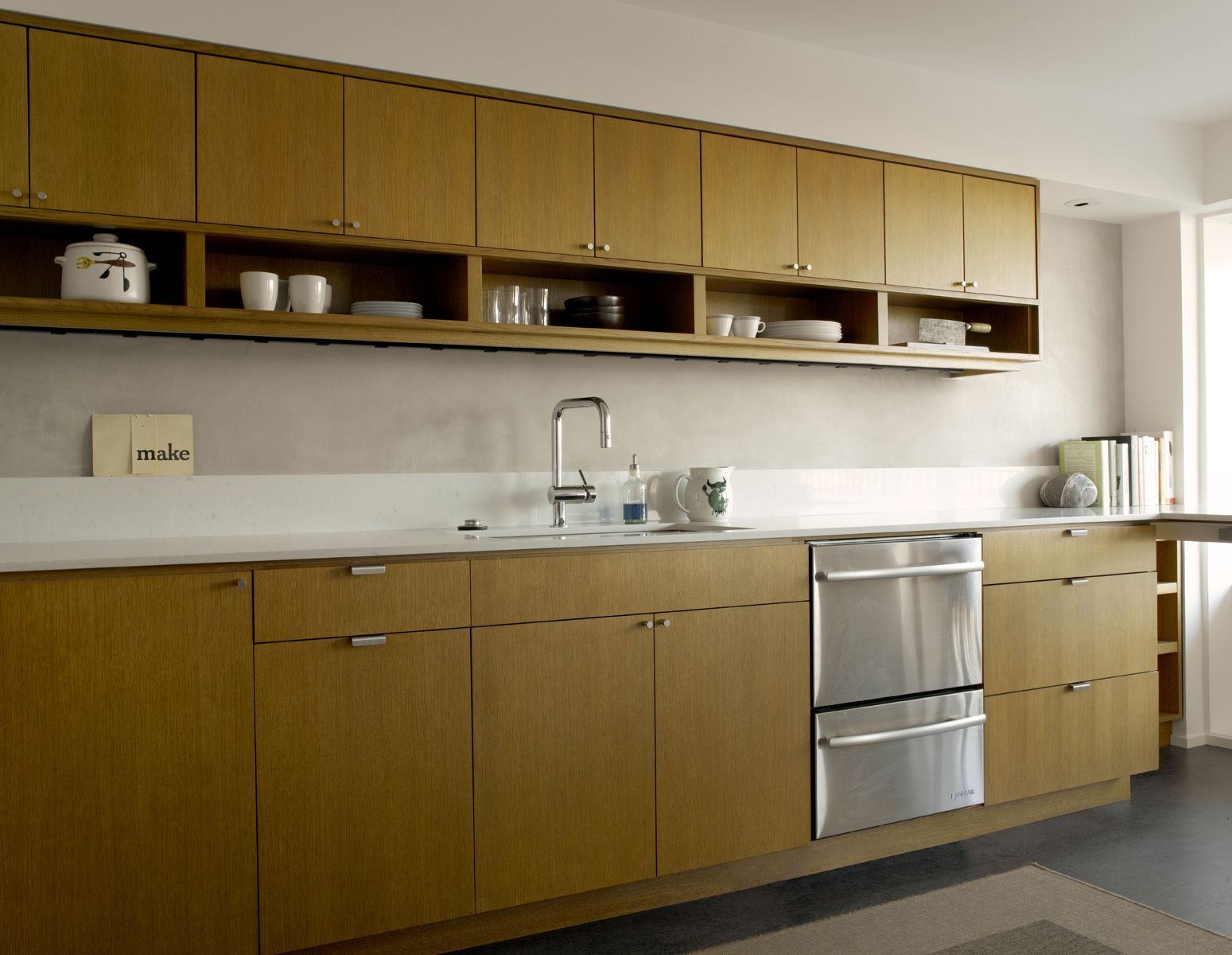 Chris, This Is One Of Our Kitchens With Oak Cabinets. I Have A Sample · Mid  Century Modern ...