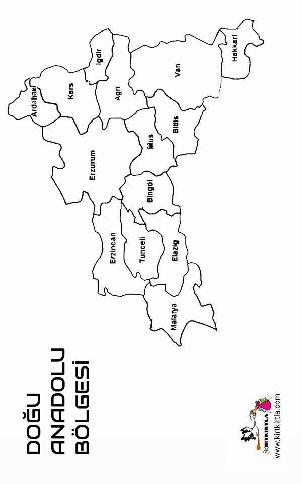 Kirtkirtla Bölgeler Boyama Sayfasi 3sınıf Yel