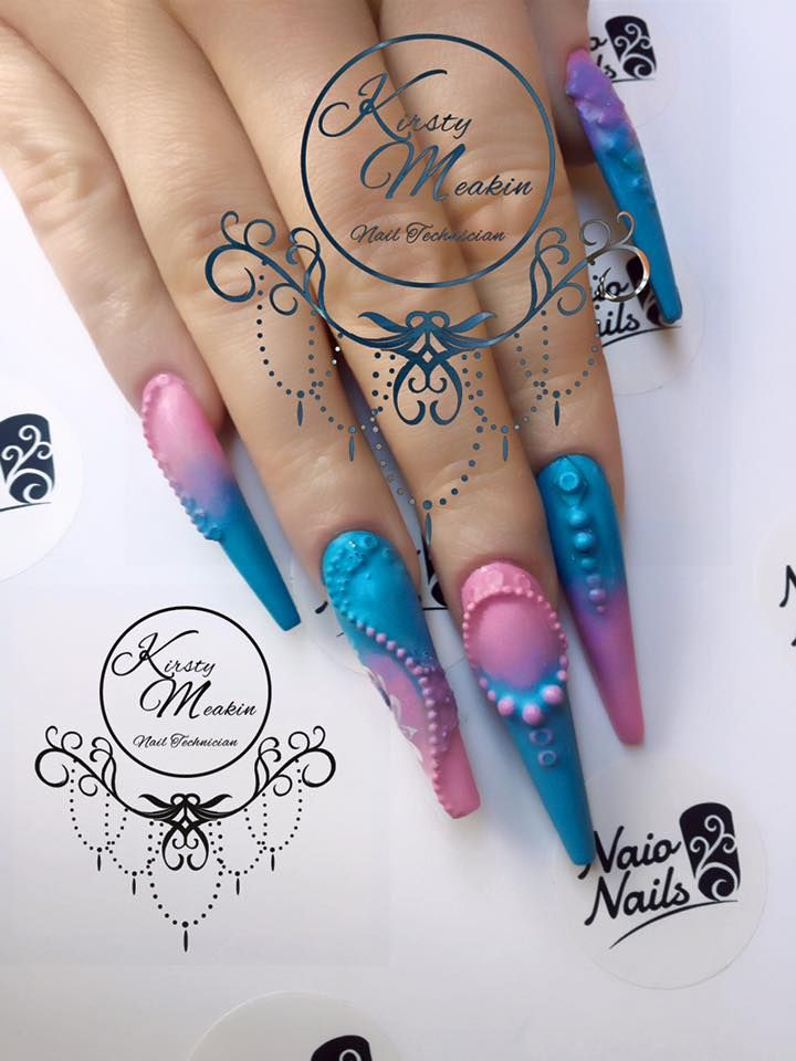 Under the Sea nail art by Kirsty Meakin | NAIO NAILS https://www ...