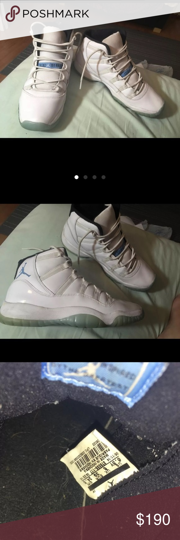 legend blue jordan 11s 💯 send offers good condition size 6.5 youth womans 8.5. will