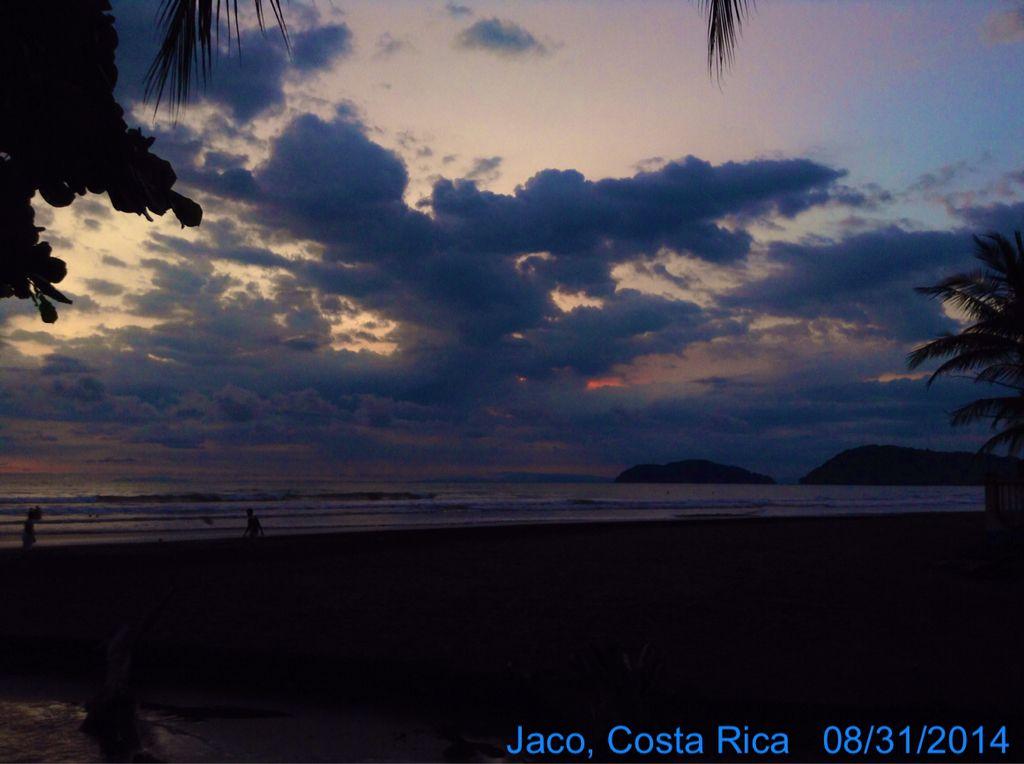 #atardecer #jaco #playa