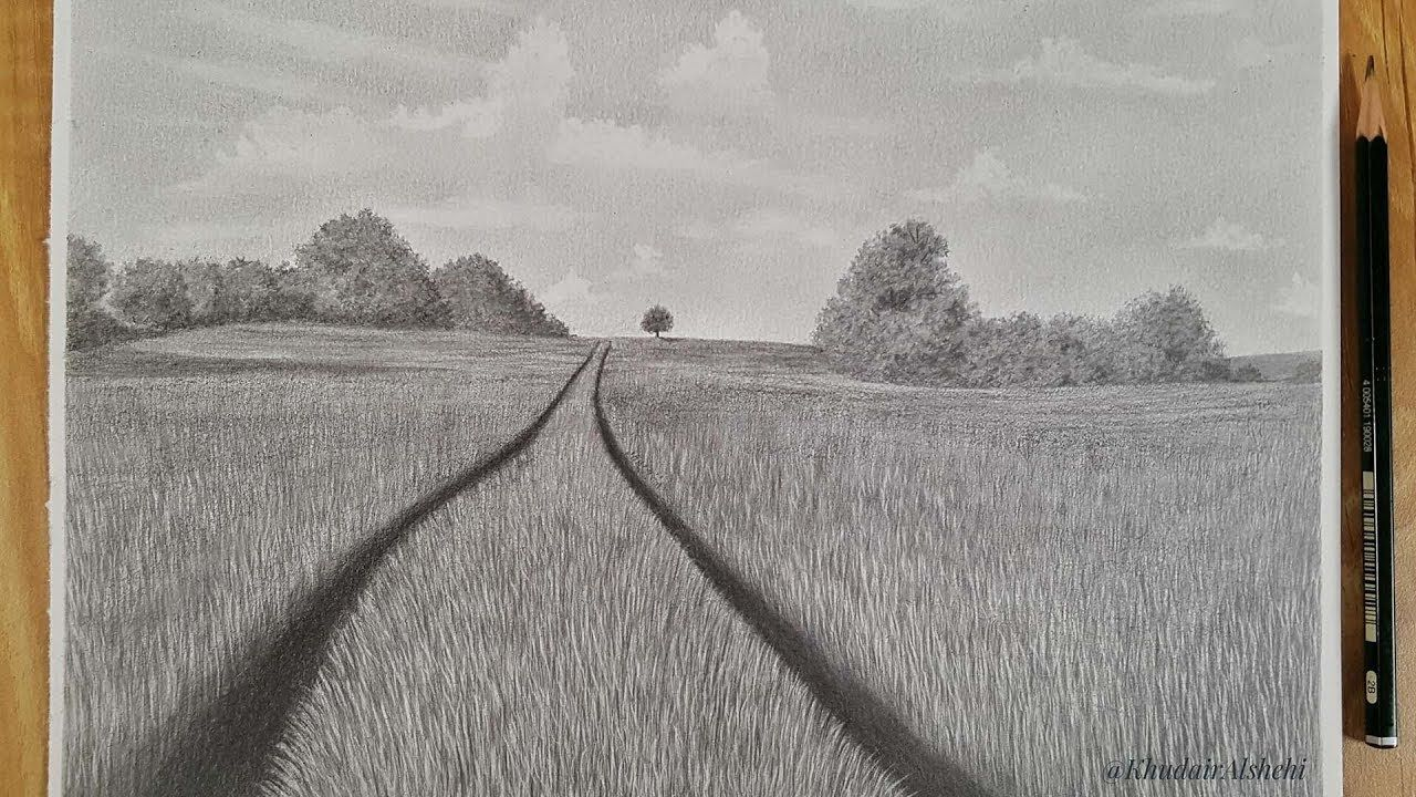 Pencil Sketch How To Paint A Professional Landscape Fantasy Landscape Painting Fantasy