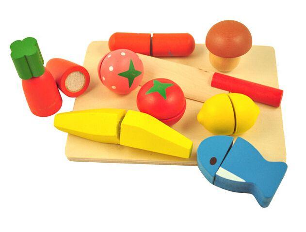 11.11 Bebé Educativos Cortar Frutas y Verduras Conjunto De Alimentos ...