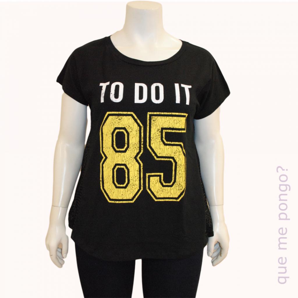 Camiseta 85 negra