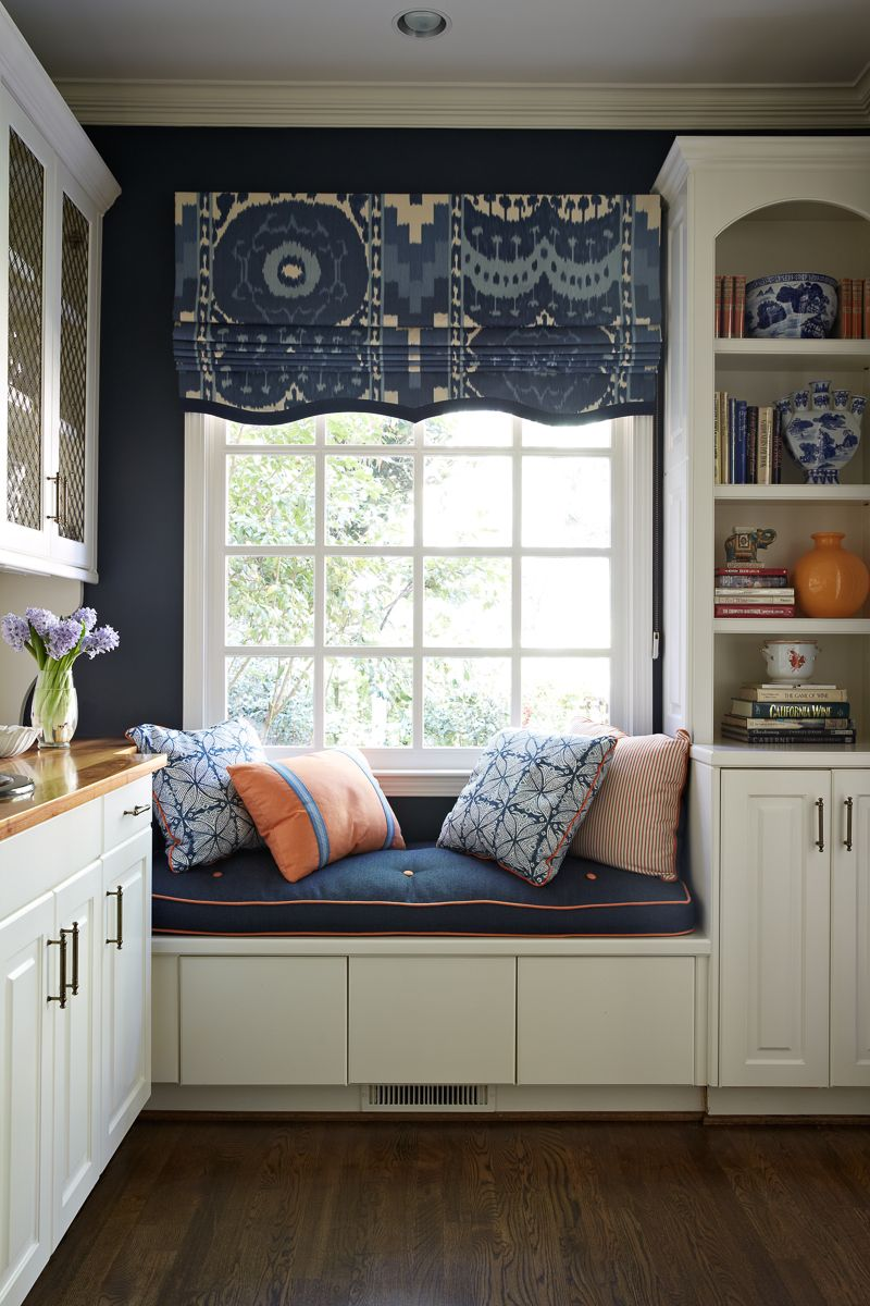 Fantastic Fabric On The Roman Shade And Love The Shape At