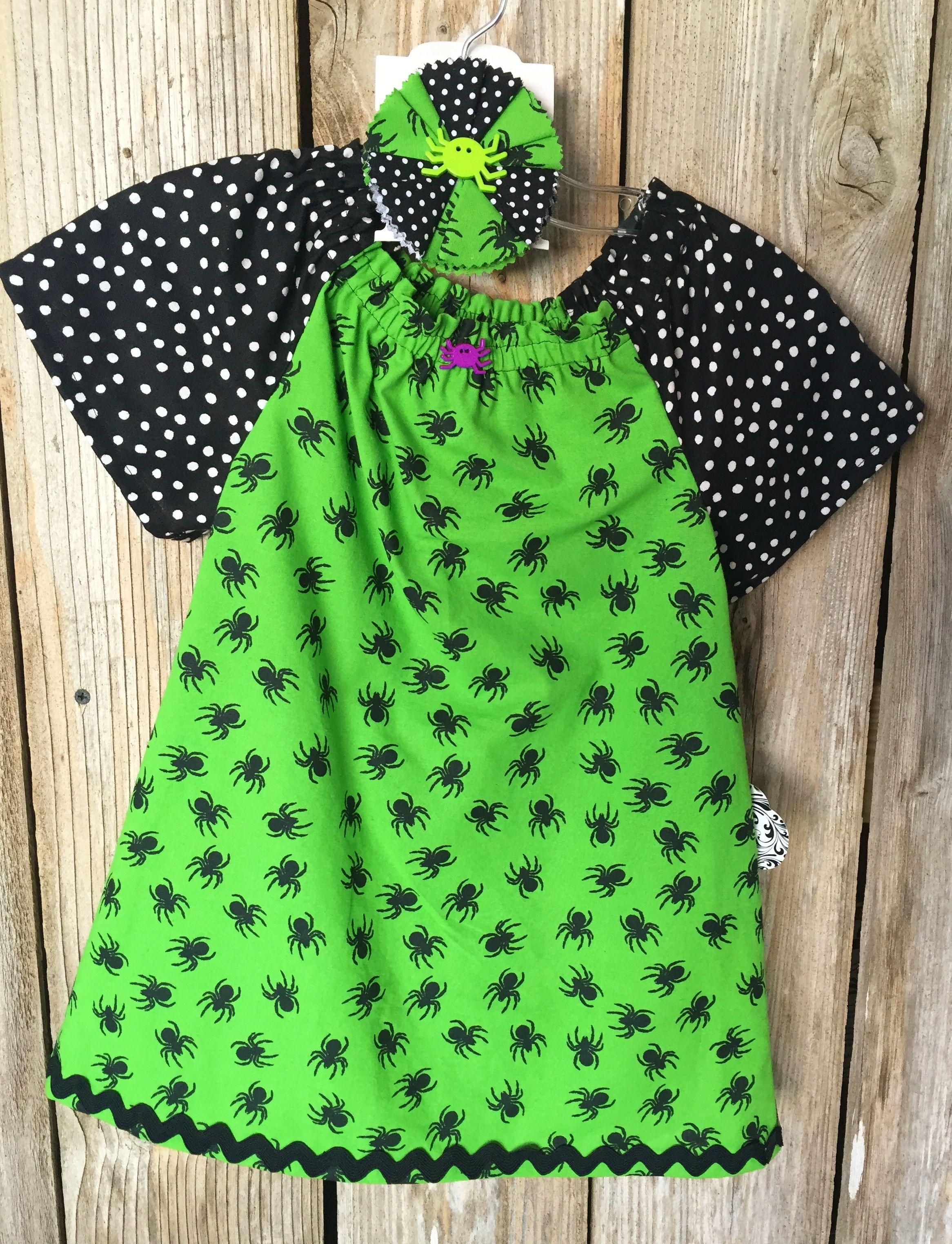 Green Spider Halloween Dress Halloween skirt, Made