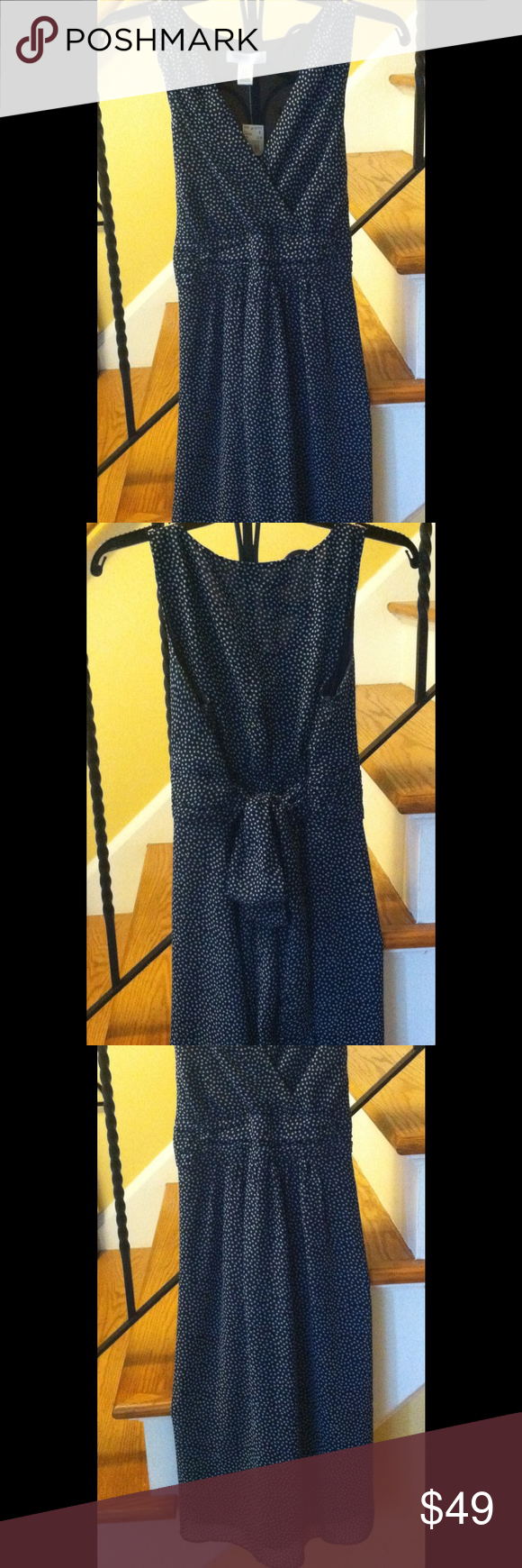 Sold on ebay motherhood maternity tie back dress motherhood motherhood maternity tie back dress motherhood maternity tie back dress dark bluewhite polka dot small buy the size you are when not pregnant ombrellifo Gallery