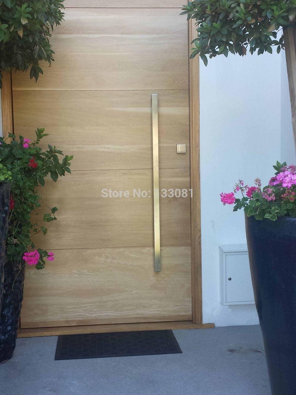 Env o gratis manija de puerta para madera push hogar for Manijas para puertas de madera