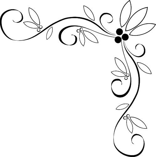 Free Page Border Designs Fancy Vine Corner Border Design