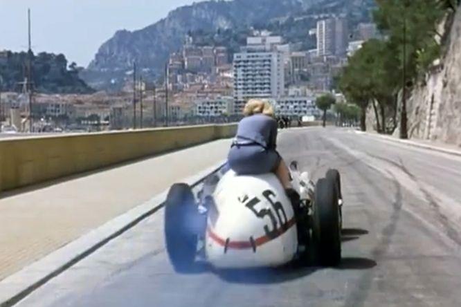 1956 Maserati 250F, Romy Schneider, Monaco.