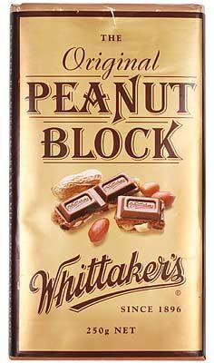 Peanut Milk Chocolate Block Whittakers 250g Shop New