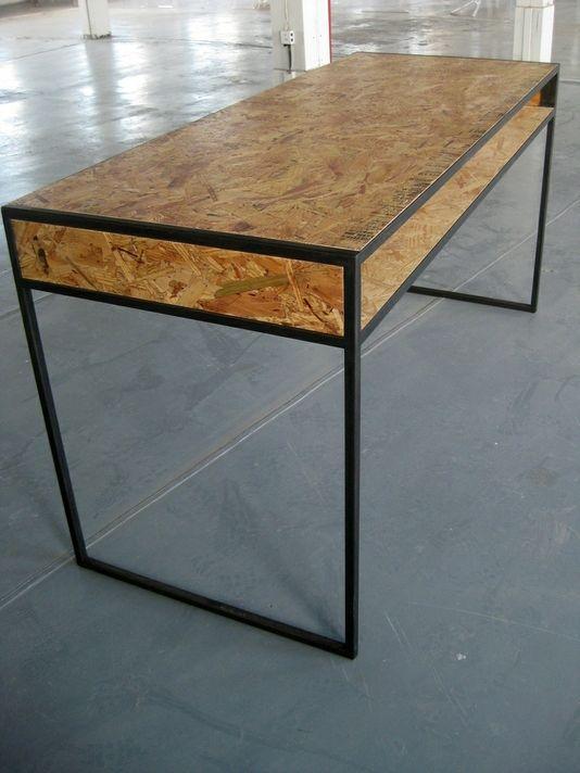 custom made osb desk cheap and simple missing only a top glass meubel pinterest desks. Black Bedroom Furniture Sets. Home Design Ideas