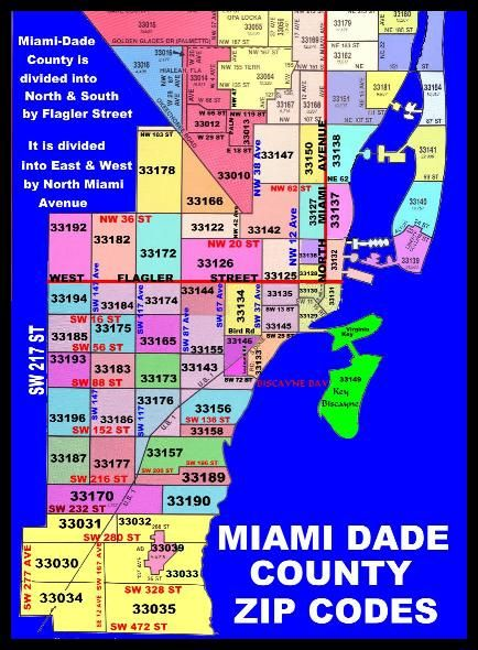 City of Miami Flood Map | Miami-Dade County Zip Code Map | zip codes ...
