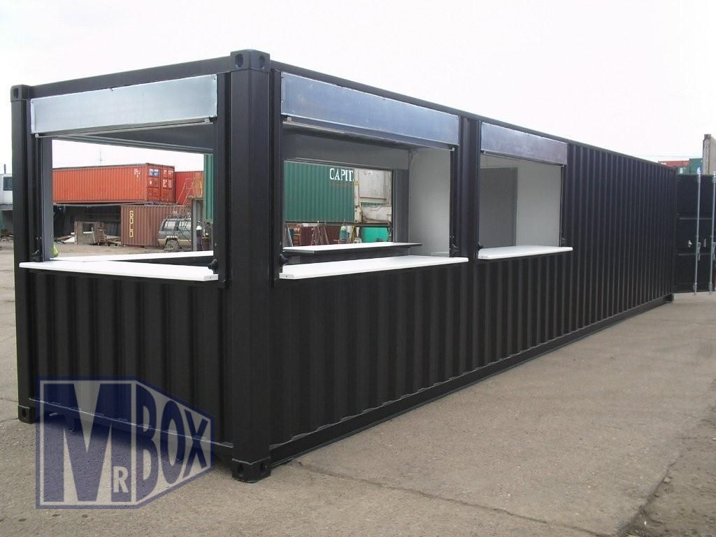 40 foot bar store room container conversion container homes pinterest conteneur plan - Maison container ...