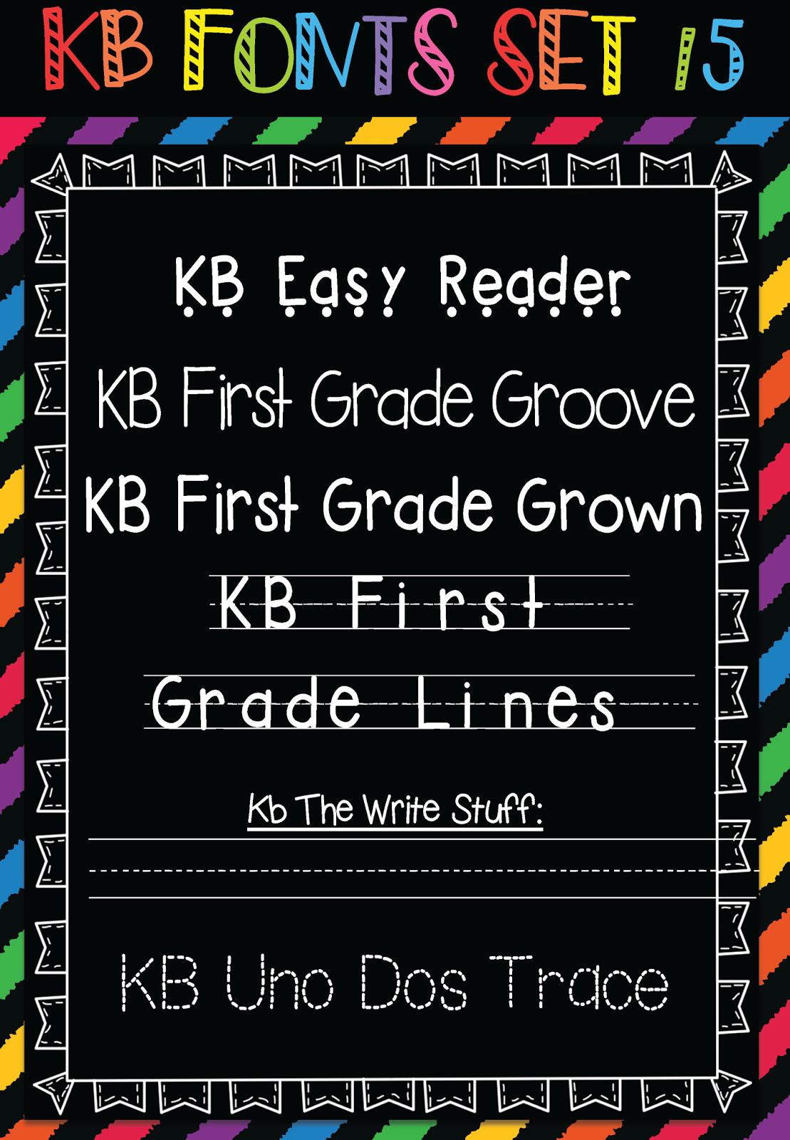 Download Keepin' It Kool In KinderLand: Font Frenzy - Big Font ...