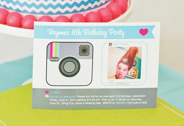 Cute Clever Instagram Birthday Party Instagram party Party