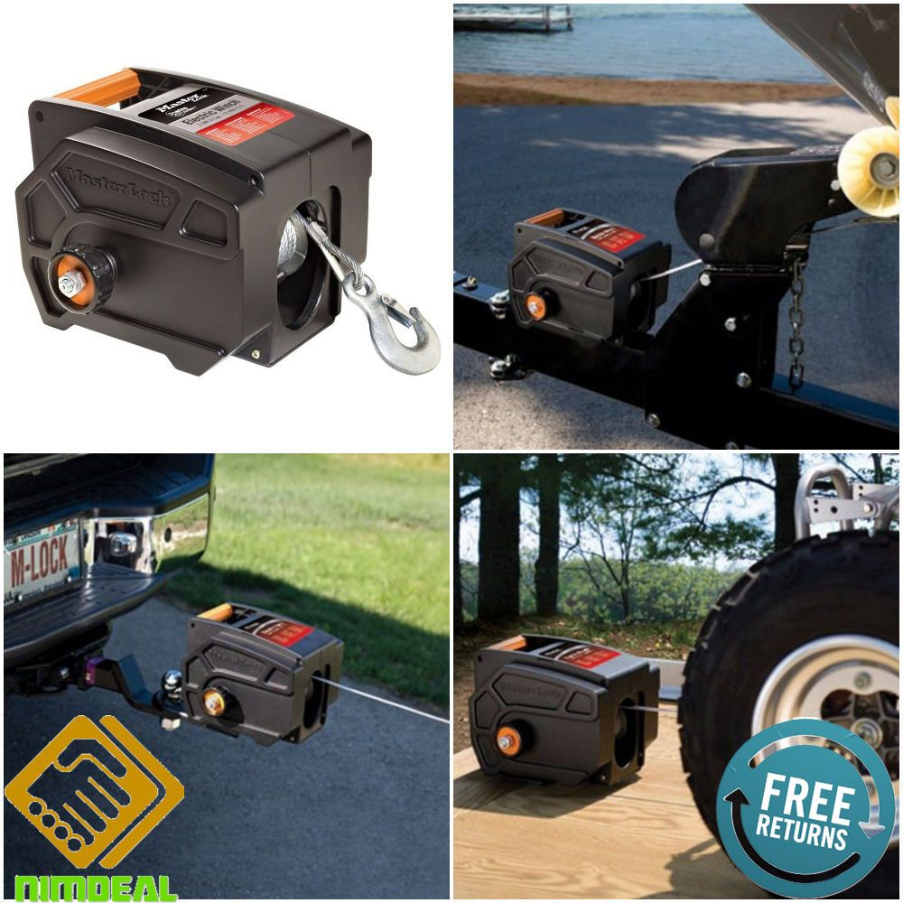 PORTABLE ELECTRIC WINCH Towing Remote Hitch Tow Cable