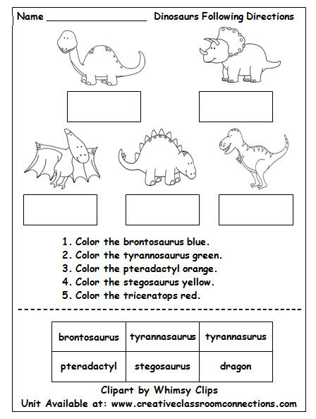 dinosaur worksheet contains brief directions and cut and paste words it provides a fun reading. Black Bedroom Furniture Sets. Home Design Ideas