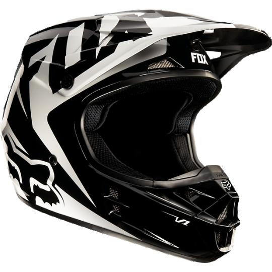 2017 FOX RACING YOUTH V1 BLACK RACE ATV MOTOCROSS MOTORCYCLE HELMET