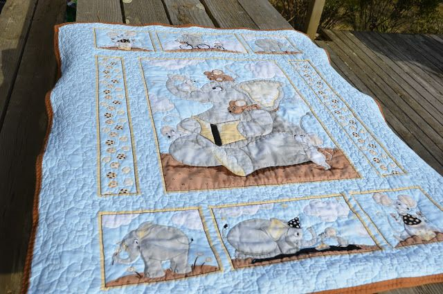Too cute!! Elephant Quilt. Panel by Susybee. | Quilts | Pinterest ... : elephant quilt panel - Adamdwight.com