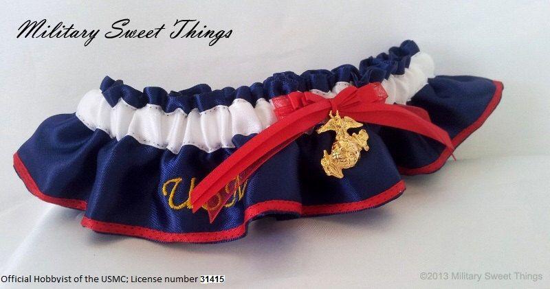 Marines Usmc Dress Blues Keepsake Garter Keepsakes And Weddings