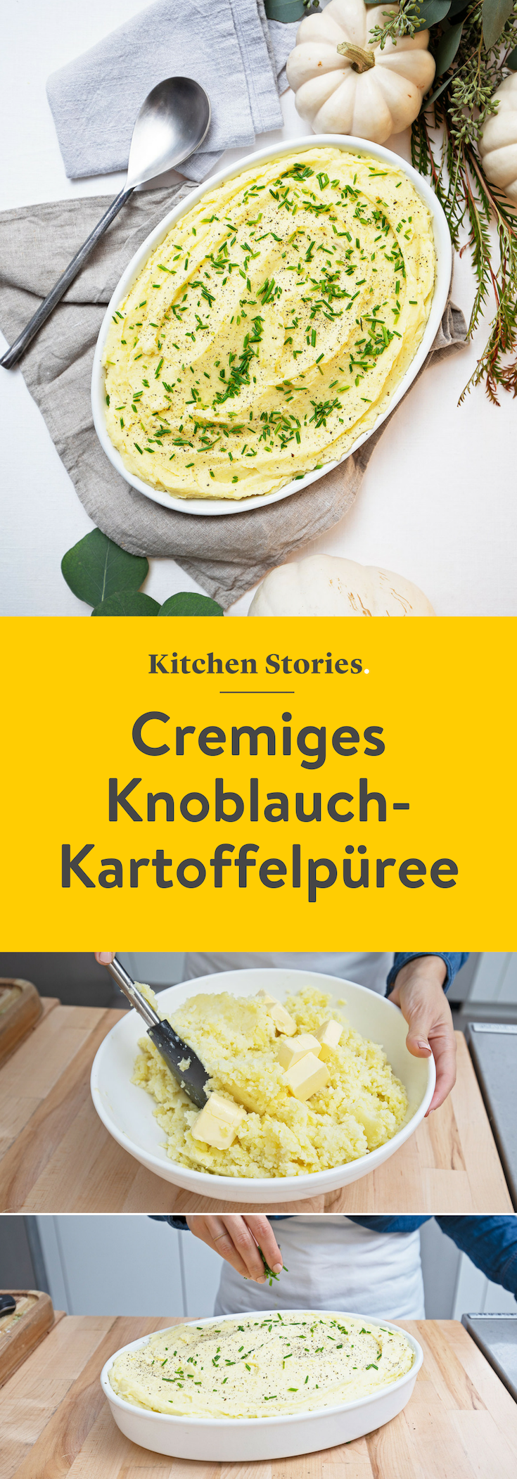 Cremiges Knoblauch-Kartoffelpüree | Rezept | Kitchen Stories