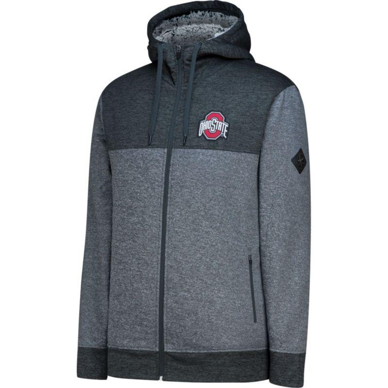 J America Men S Ohio State Buckeyes Cloud Full Zip Gray
