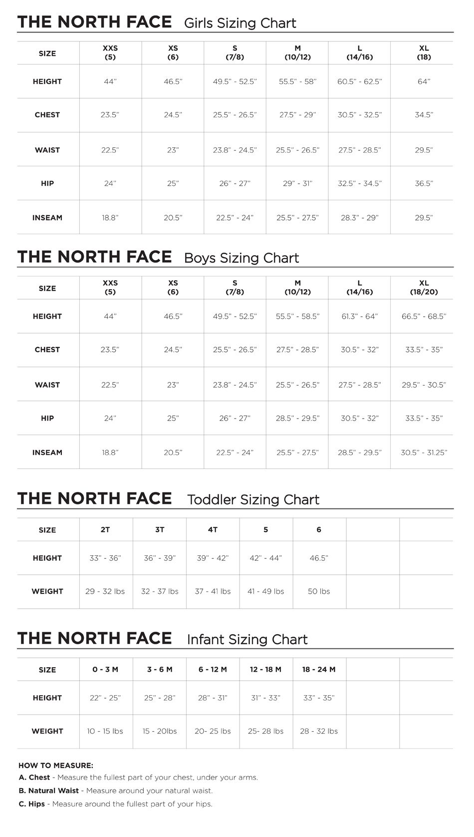 North Face Snow Pant Size Chart In 2020 North Face Ski Pants North Face Ski North Face Outfits