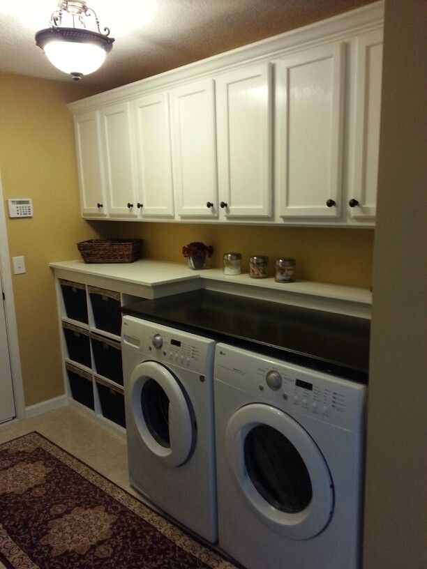 DIY Custom Laundry Room I Made For My Wife. Tons Of Storage. The Folding