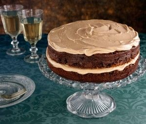 Chocolate Layer Cake With Peanut Butter Frosting
