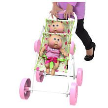 Cabbage Patch Kids Twin Cuddle N' Stroll - Green/Pink