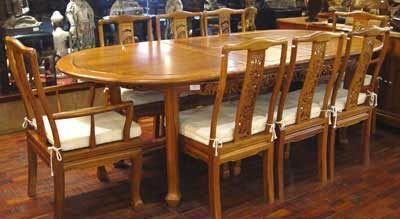 9 Piece Solid Teak Dining Table Set From Indonesia Indonesian Furniture Dining Table Setting Furniture