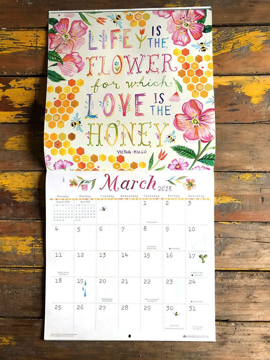 2019 Wall Calendar You Shall See Wonders Katie Daisy Calendar