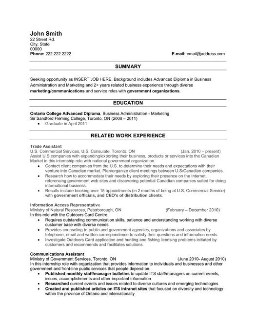 Government Resume Template Click Here To Download This Trade Assistant Resume Template Http