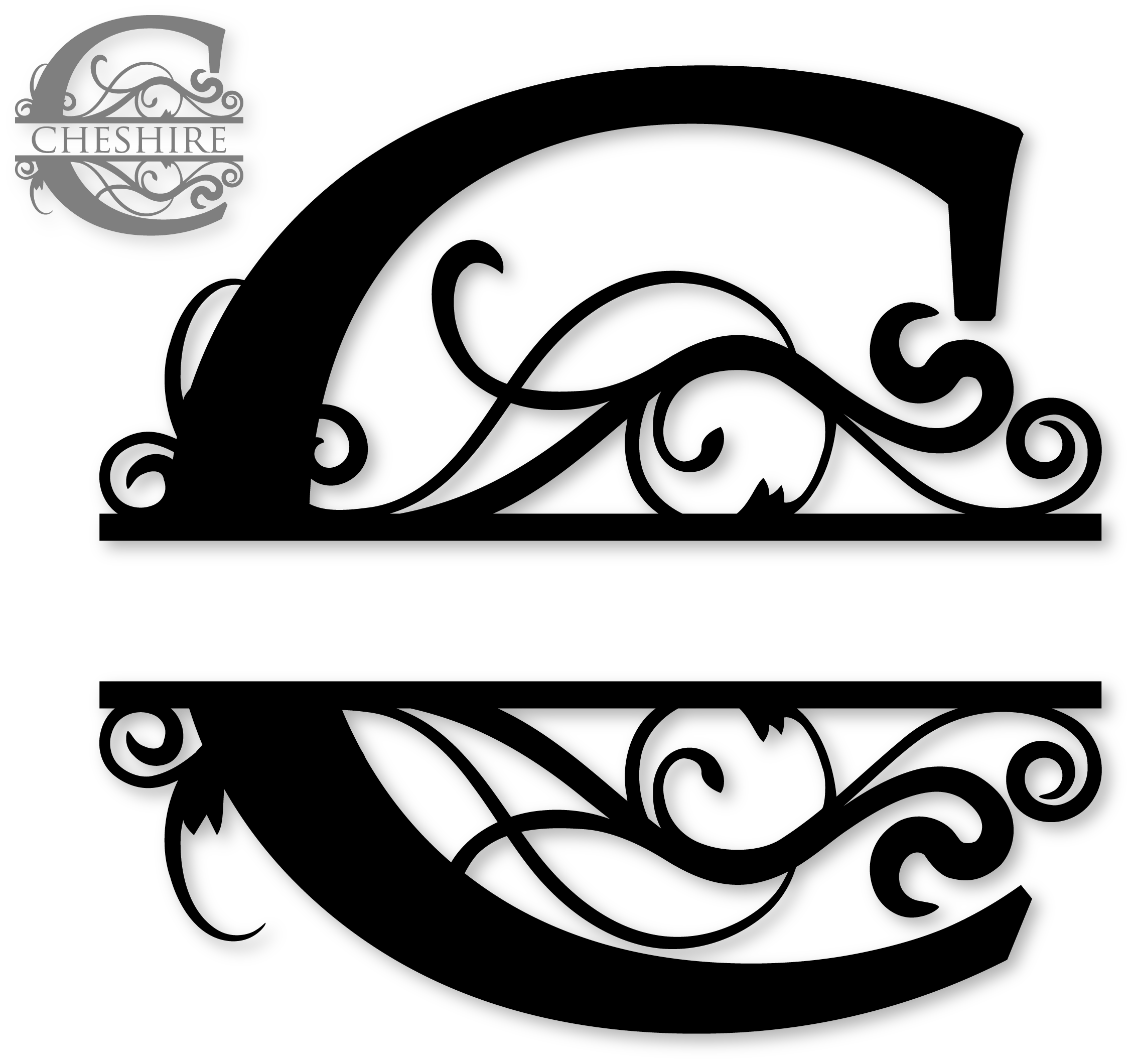 C Split Monogram Sds C Split Monogram 0 99