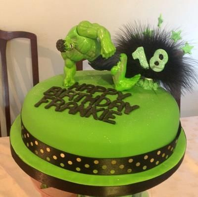 Hulk Birthday Cake Ideas gateaux hulk Pinterest Hulk