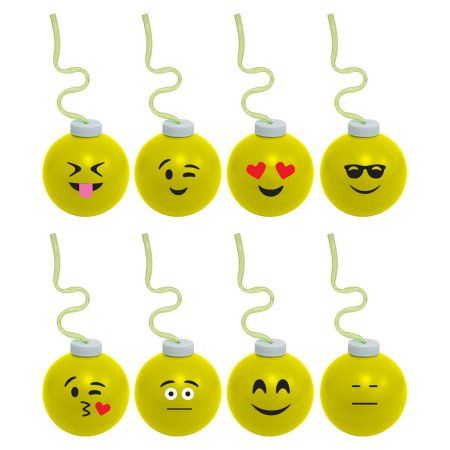 Emoji 16oz Krazy Koolers With Straw Each