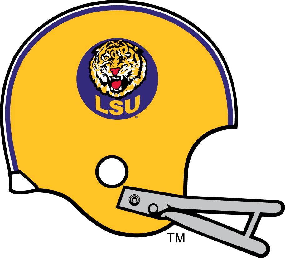 Lsu Tigers Helmet Logo 1972 Lsu Tigers Lsu College Football Helmets