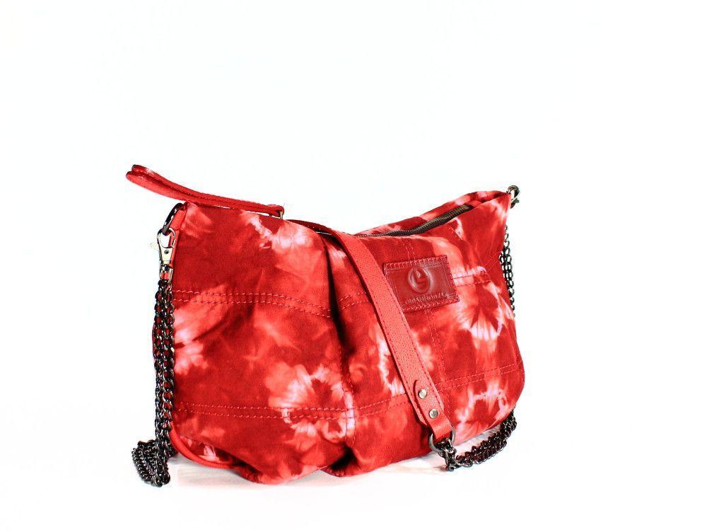 Tie-dye Shoulder bag red