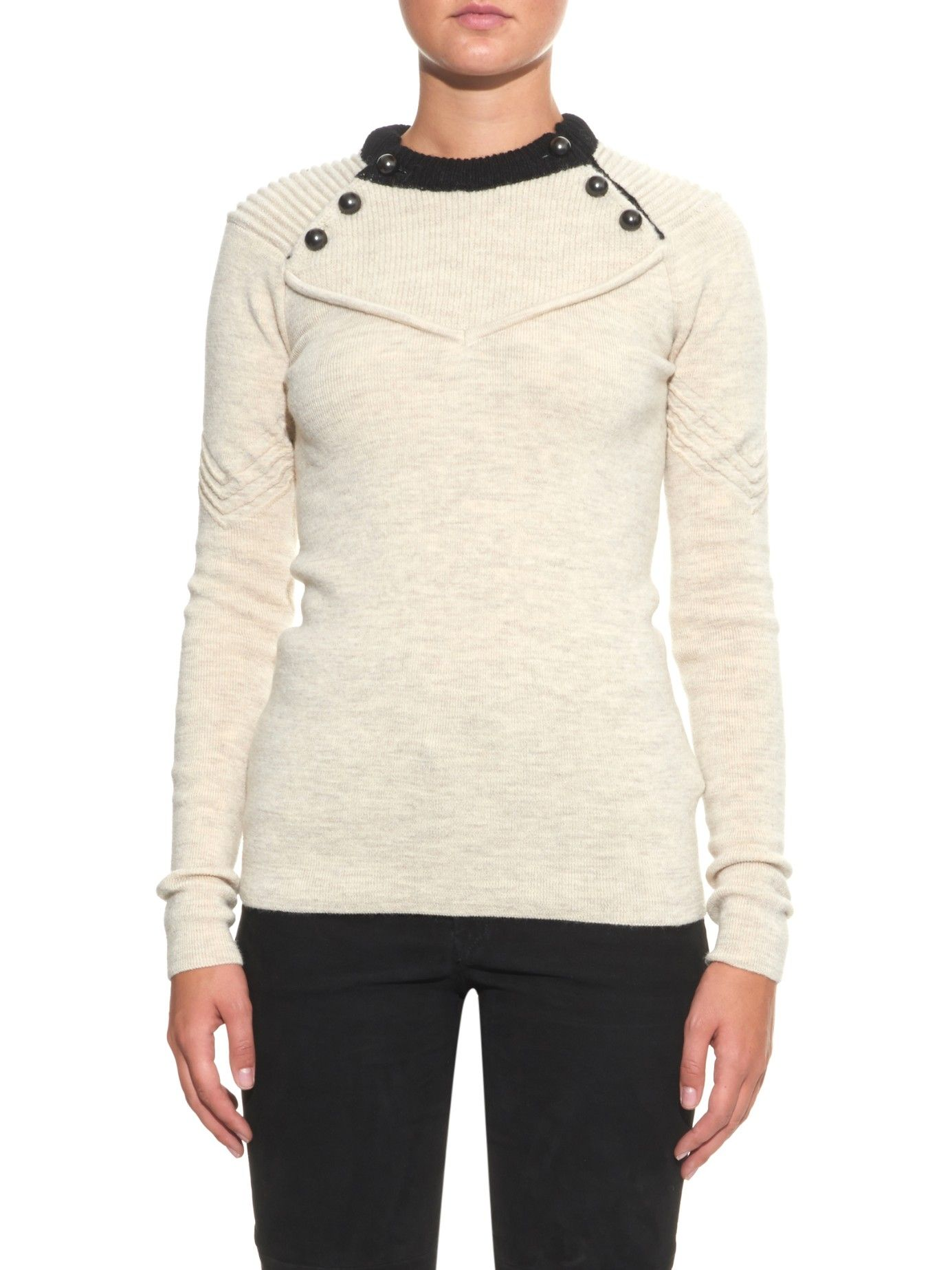 Fagan button-detail wool-blend sweater | Isabel Marant | MATCHESFASHION.COM