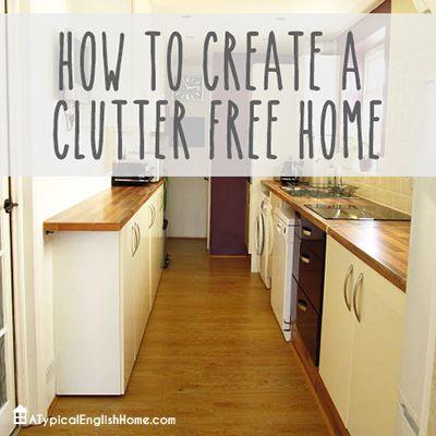 Clutter Free Home Organization Pinterest Clutter English